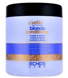 Echos line blonde кондиционер с частицами платины и маслом аргании 1000мл. ECHOSLINE