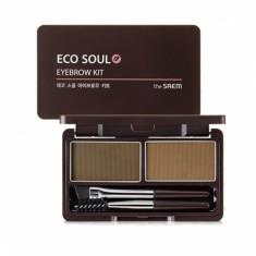 пудра для бровей the saem eco soul eyebrow kit