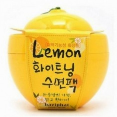 маска для лица с экстрактом лимона baviphat lemon whitening sleeping pack