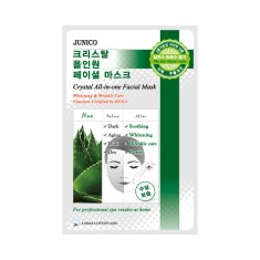 маска тканевая c алое mijin junico crystal all-in-one facial mask aloe