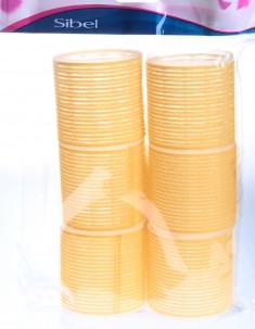 SIBEL Бигуди-липучки желтые 66 мм 6 шт/уп