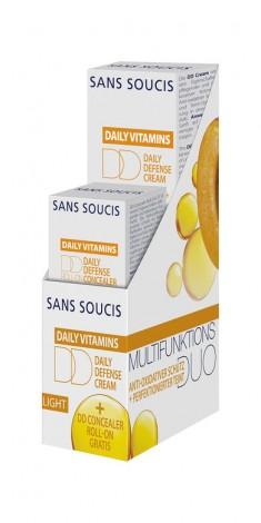 SANS SOUCIS Набор Антиоксидантная защита (DD крем дневной защитный 30 мл, DD крем для кожи вокруг глаз 3 мл)