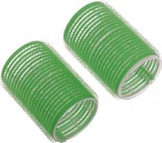 DEWAL BEAUTY Бигуди-липучки зеленые, d 48x63 мм 10 шт