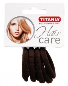 TITANIA Резинки для волос, коричневые 4 см 6 шт/уп 7869