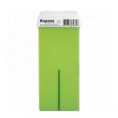 Жирорастворимый воск с ароматом зеленого яблока с широким роликом, 100 мл (Kapous Professional)