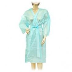 Халат-кимоно без рукавов, голубой, 10 шт. (Чистовье) ЧИСТОВЬЕ