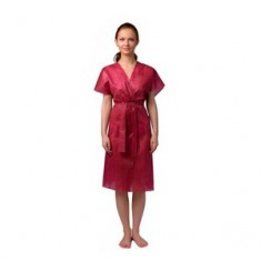 Халат-кимоно без рукавов, бордовый, 10 шт. (Чистовье) ЧИСТОВЬЕ