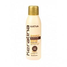 Укрепляющий шампунь с кератином, 100 мл (Kativa)