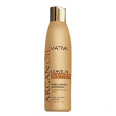 Несмываемый оживляющий концентрат с маслом арганы для волос, 250 мл (Kativa)