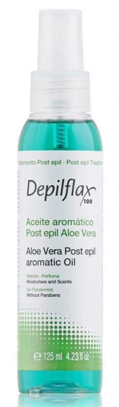 DEPILFLAX 100 Масло для удаления остатков воска, алоэ вера / Aloe Vera Post Epil Aromatic Oil 125 мл