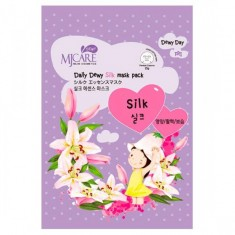 маска тканевая с аминокислотами шелка mijin care daily dewy silk mask pack