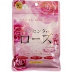 Japan Gals - Набор натуральных масок для лица с экстрактом розы, 7 шт.