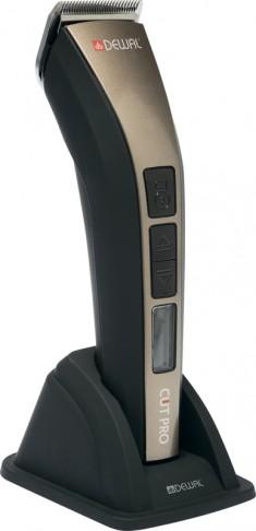 DEWAL PROFESSIONAL Машинка для стрижки Cut Pro, 0.7-1,9 мм, аккумуляторно-сетевая, Led дисплей, 1 нож, 4 насадки