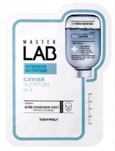 Тканевая маска с черной икрой TONY MOLY Master Lab caviar mask sheet 19 мл