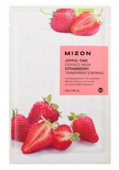 Тканевая маска с клубникой MIZON Joyful time essence mask strawberry 23г