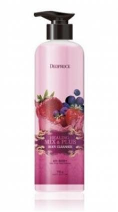 Гель для душа Ароматерапия - Ягодный микс DEOPROCE Healing mix & plus body cleanser mix berry 750г