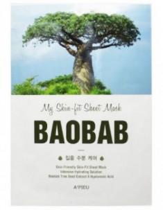 Тканевая маска с баобабом A'PIEU My Skin-Fit Sheet Mask Baobab 25г