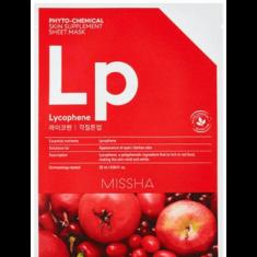 Маска тканевая с томатом, гранатом и клюквой MISSHA Phytochemical Skin Supplement Sheet Mask Lycophene/Peeling Tone Up