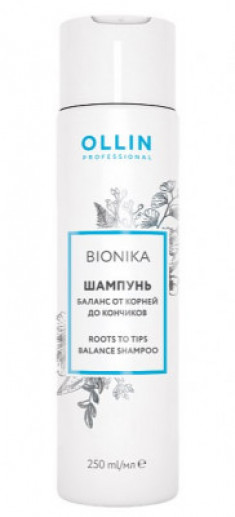 Шампунь баланс от корней до кончиков OLLIN BioNika Roots To Tips Balance Shampoo 250мл