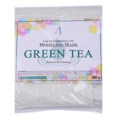 Маска альгинатная с зеленым чая успокаивающая Anskin Green Tea Modeling 240г