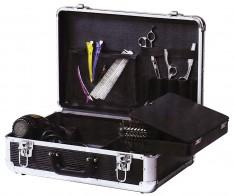 DEWAL PROFESSIONAL Чемодан для парикмахерских инструментов, пластик, черный 45х30,5х16 см