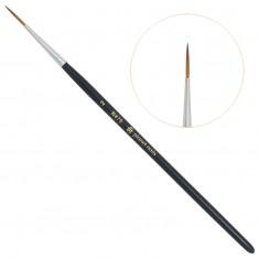Planet nails, кисть для дизайна круглая длинная, №2, 475.2