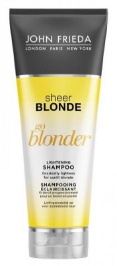 Шампунь осветляющий для натуральных, мелированных и окрашенных волос John Frieda Sheer Blonde Go Blonder 250 мл