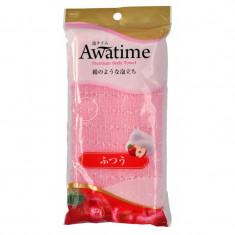 мочалка для тела средней жесткости ohe corporation awa time body towel normal