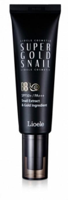 ВВ-крем с экстрактом улитки и золотом Lioele Super Gold Snail BB SPF50 21Natural Beige 50мл