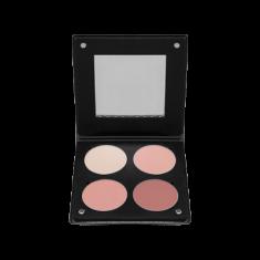 Палетка румян с зеркалом, 4 оттенкаMake-Up Atelier Paris BL3DBR розовый беж 96г