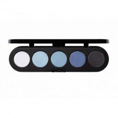 Палитра теней, 5 цветов Make-Up Atelier Paris T27 голубые джинсовые тона