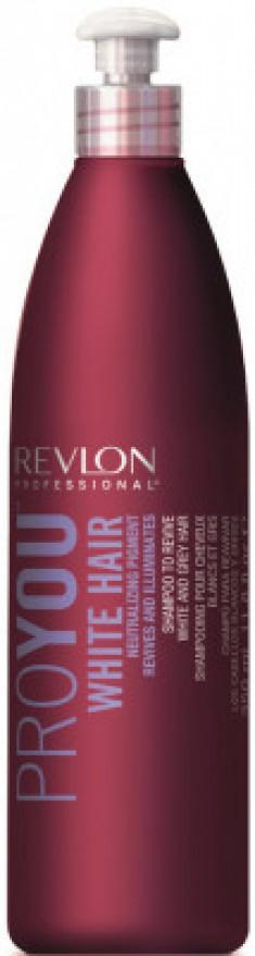 Шампунь для здоровья и блеска седых и обесцвеченных волос Revlon Professional PROYOU WHITE HAIR 350 мл