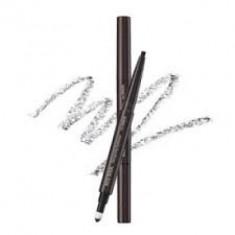 Карандаш для бровей 3 в1 THE SAEM Eco Soul Designing Eyebrow 03 Grey Brown 0,2+0,12гр
