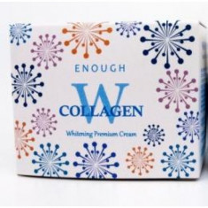 крем для лица осветляющий enough w collagen whitening premium cream