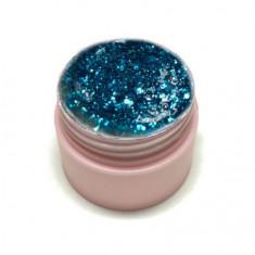 Ice Nova, Глиттер-гель №46, бирюзово-голубой
