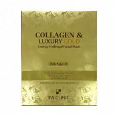 Маска гидрогелевая с золотом 3W CLINIC Collagen & Luxury Gold Energy Hydrogel Facial Mask