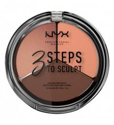 NYX PROFESSIONAL MAKEUP Палетка для скульптурирования 3 Steps To Sculpt Face Sculpting Palette - Deep 04