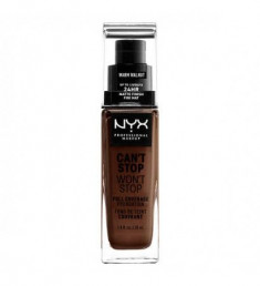 NYX PROFESSIONAL MAKEUP Тональная основа Can't Stop Won't Stop Full Coverage Foundation - Warm Walnut 225