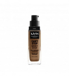 NYX PROFESSIONAL MAKEUP Тональная основа Can't Stop Won't Stop Full Coverage Foundation - Mahogany 16