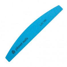 Planet Nails, Пилка широкая полукруглая Mylar Flexible, синяя 120/180