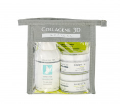 MEDICAL COLLAGENE 3D Набор для лица (крем дневной 15 мл, крем ночной 15 мл, гель 15 мл) Travel Kit Biorevital Mini