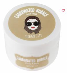 Маска для лица глиняно-пузырьковая с золотом Baviphat Urban City Carbonated Bubble Gold Mask 100г