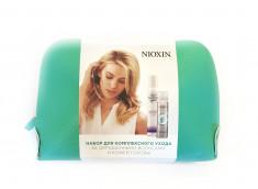 NIOXIN Набор подарочный в косметичке для защиты цвета и плотности окрашенных волос (мусс 200 мл, сухой шампунь 65 мл) 3D уход