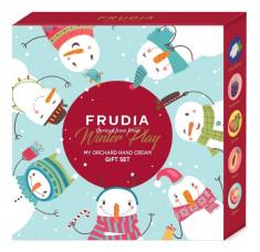 подарочный набор кремов для рук зимняя коллекция frudia winter play my orchard hand cream gift set
