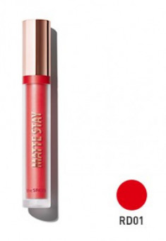 Помада для губ жидкая матовая THE SAEM Matte Stay Lacquer RD01 Red Count