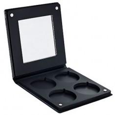 Палитра-кейс с зеркалом для пудр/теней/румян Make-Up Atelier Paris PRR4 Ø 36 мм на 4 цветов, черная
