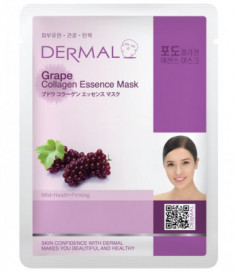 Тканевая маска виноград и коллаген Dermal Grape Collagen Essence Mask 23 мл