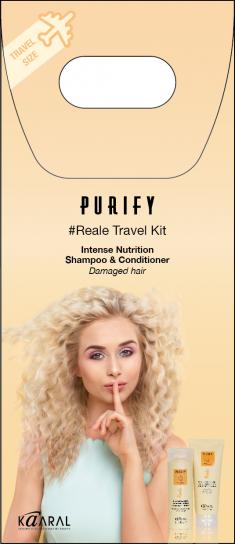 KAARAL Набор дорожный для поврежденных волос (шампунь 100 мл, кондиционер 75 мл) / Purify Reale