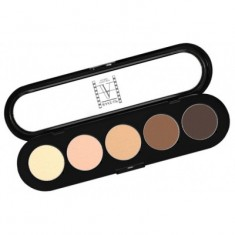 Палитра теней, 5 цветов Make-Up Atelier Paris T22 натуральные коричневые тона