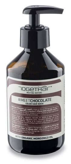 TOGETHAIR Маска оттеночная для волос, шоколад / MEETCHOCOLATE Color Hair Mask 250 мл